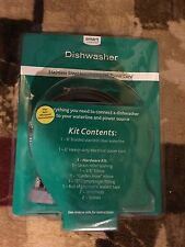 Dishwasher Stainless Steel Install Kit with Power Cord