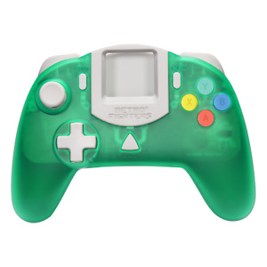 Retro Fighters StrikerDC DreamCast Green Controller  - Official UK Stockists