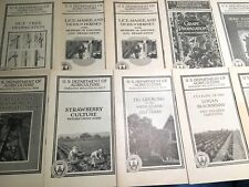 Antique Old Early 1900's Lot Of 21 U.S. Dept. of Agriculture Farmers' Bulletins