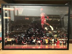 "New Framed Michael Jordan Free Throw Dunk Poster Size 26"" X 38"" Digital Print"