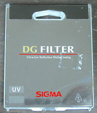 SIGMA 72mm  UV  DG multi coating FILTER - NEW Sealed