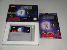 Another World SNES Game Complete with original box and instructions