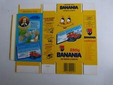 boite BANANIA en carton 250 grammes  neuve jamais monté / S . CHAMPLAIN
