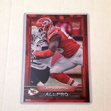 #297 Justin Houston Georgia / Chiefs MVP #ed/25 made Red Version 2015 Topps 5x7