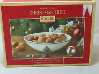 """NEW NWT Spode Christmas Tree Oval Nut Candy Dish 7"""" Bowl in Box DW Safe"""