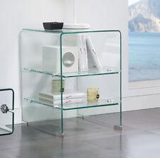 M-120 Dupen Design Beistelltisch Glasregal Regal Tisch Ablage Nachtkonsole Möbel