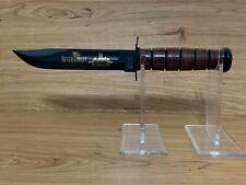 KA-BAR COMMEMORATIVE FIGHTING KNIFE #9165 USMC 9/11 NEVER FORGET BLADE MARK USMC