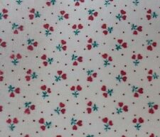 MINIATURE DOLLHOUSE christmas floral valentine self adhsv FABRIC wallpaper 1:12