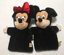 "12"" Applause Classic Disney Mickey Minnie Plush Hand Puppet Lot 90's"