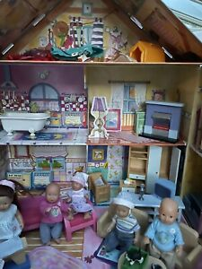 Baby Born Mini World huge bundle House,Dolls,+wood furniture , Clothes Etc