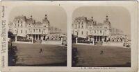 Biarritz Casinò Bellevue Francia Foto Stereo Vintage Analogica
