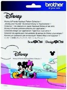 Brother ScanNCut Disney Mickey and Friends Appliqué Pattern Collection #1
