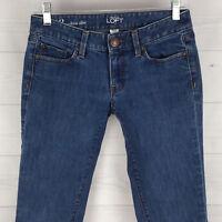 Ann Taylor LOFT Moder Slim Petite Women 2P Stretch Blue Dark Wash Low Rise Jeans