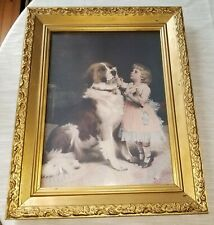 16 x 20 How like Grandma by Charles Burton Barber Art Print of Vintage Art