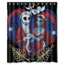 New Arrival Custom Jack And Sally Waterproof Bathroom Shower Curtain 60x72 inch