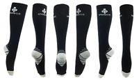 3 PAIRs Copper Infused Energy Compression Fit Socks For Nurses Men & Women S/M