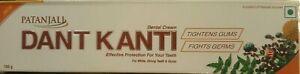 Swami Ramdev Patanjali UK - 4 x Dant Kanti Herbal Toothpaste 100g Family Size