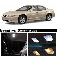 White Interior LED Lights Package Kit for 1997-2003 Grand Prix