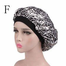 Women Wide Band Satin Bonnet Comfortable Ladies Night Sleep Hat Hair Cap Turban F