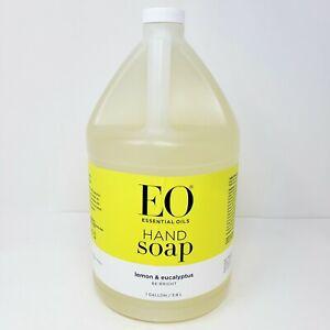 EO Essential Oils Liquid Hand Soap Refill Lemon and Eucalyptus 1 Gallon New