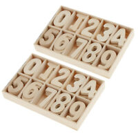120x Wood Numbers Embellishments Scrapbooking Card DIY Craft Education toys