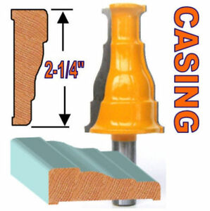 "1 PC 1/2"" SH Window & Door Casing and Base Molding Router Bit S"