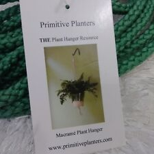 Primitive Planters 36 in Green Rope Macrame Plant Hangers (2-Pack)