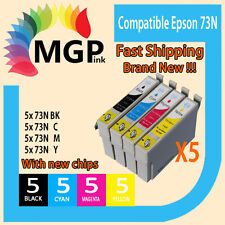 20x Compatible ink cartridge 73N T0731-4 for Epson CX5500 /3900 NX220 TX610F ...