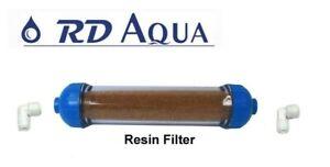Clear Refillable Mixed Bed DI Resin Filter Inline De-Ionization Aquarium System