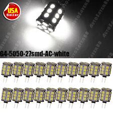 20x G4 Base 5050 27-SMD 6000K White LED Light Bulbs for Malibu Landscape AC 12V