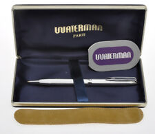 Waterman CF penna a sfera placcata argento, silver plated new old stock