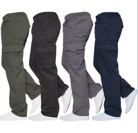Mens Military Combat Trousers Army Cargo Fleece Lined Chinos Casual Work Pants