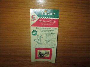 Rare Vtg NOS Singer Trim-Clip 161585 Sewing Machine Thread Cutter Universal Fit