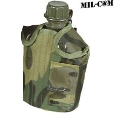 MIL-COM MILITARY CAMOUFLAGE WATER BOTTLE & COVER ARMY CAMPING HUNTING SHOOTING