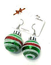 Christmas Bauble Earrings Fashion Jewellery Novelty Xmas Decor