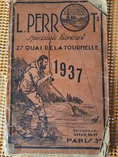 PRE WWII 1937 L. PERROT FRENCH FISHING CATALOGUE WITH PRICES AND ADVERTISINGS