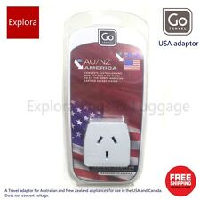Go Travel Earthed Adaptor From AU / NZ to America