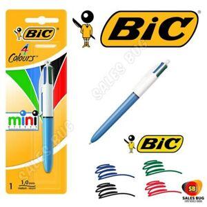 BiC ORIGINAL Mini 4in1 COLOUR Retractable Ball Point Writing Pen School Office