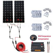 100w LCD Mono Solar Panel Kit 12v Corner Mounts Caravans Boats for Homes Sheds