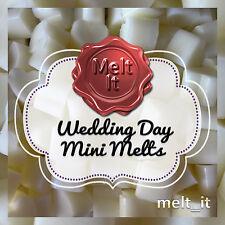 50 Wedding Day altamente PROFUMATE MINI Cera Fonde Crostate BOMBONIERE Bruciatore Olio