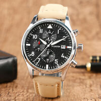 OCHSTIN 3ATM Water Resistant Chronograph Genuine Leather Band  Men Wrist Watches
