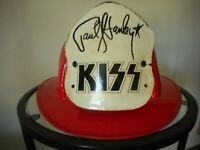 KISS ORIGINAL PAUL STANLEY RED FIREHOUSE HAT FROM CHICAGO STADIUM 1/15/78