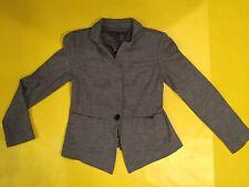 Banana Republic Wool Blazer Gray CHECKERED PATTERN Size SMALL SINGLE BUTTON