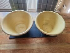 More details for 2 vintage used large rustic pancheon terracotta dairy bowl  £55 each