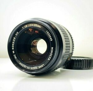 【N.Mint】 Minolta MC W.Rokkor HH 35mm f/1.8 Wide Angle Lens for MD from Japan 449