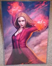 Marvel Avengers Scarlet Witch Glossy Art Print In Hard Plastic Sleeve