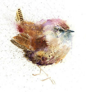 Limited Print of LITTLE WREN original watercolour by HELEN APRIL ROSE   292