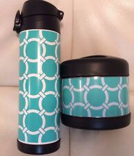 Pottery Barn insulated Water Bottle & Soup Container Preppy Rings New Pool Gear