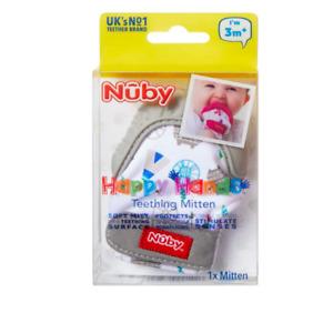 Nuby Teething Mitt, Grey Baby Teethers & Soothing Soothers Glove Mitten