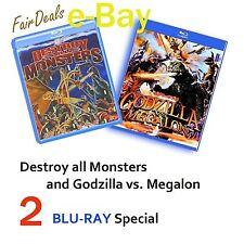 GODZILLA vs MEGALON and DESTROY ALL  MONSTERS - 2  BLU-RAYS TOKYO SHOCK